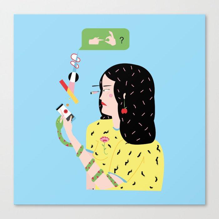 Eva felt sick and sad, she just wanted to f. Canvas Print