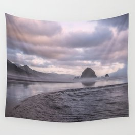 Looking at the mountains Wall Tapestry