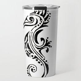 seahorse tatoo white Travel Mug