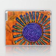 Orange and purple Floral batik Laptop & iPad Skin