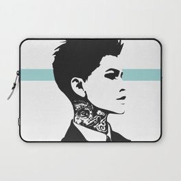 The handsome butch with neck tattoos Laptop Sleeve