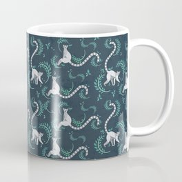 Lemurs walking and sitting in the forest I Coffee Mug