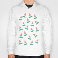 watermelon Hoodies featuring Watermelon by Menina Lisboa