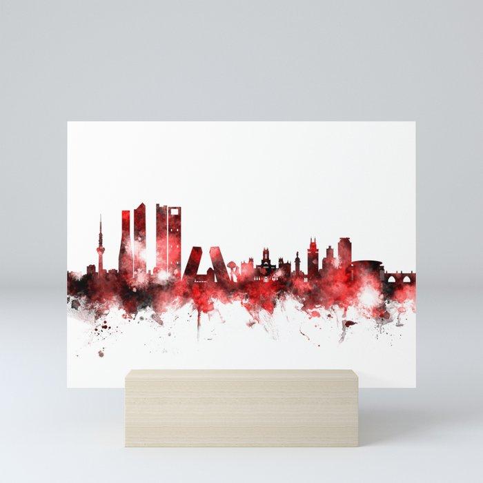 Madrid Spain Skyline Mini Art Print