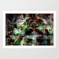 "illuminati Art Prints featuring Illuminati by Chris ""MUG5"" Maguire"
