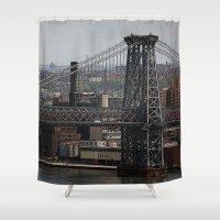 butcher billy Shower Curtains featuring Billy Bridge by Liza Eckert