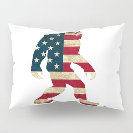 Bigfoot american flag Pillow Sham