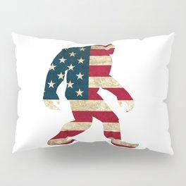 Bigfoot american flag Pillow Sham