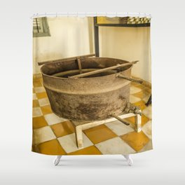 S21 Water Torture Barrel - Khmer Rouge, Cambodia Shower Curtain