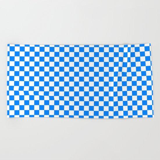 Checker (Azure/White) Beach Towel