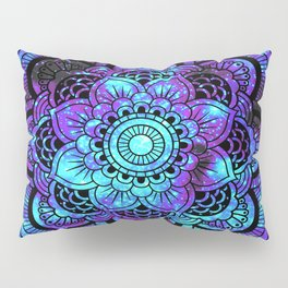 Mandala : Bright Violet & Teal Galaxy 2 Pillow Sham