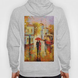 Rain in the city of love Hoody