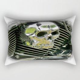 Motorcycle Skull Rectangular Pillow