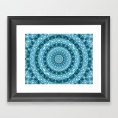 light Blue Kaleidoscope Mandala