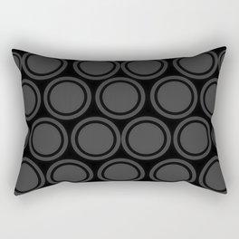 Black and Grey Circles | Mod Graphic Pattern #2 | Nadia Bonello | Canada Rectangular Pillow