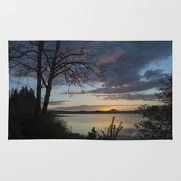 Lake Quinault Sunset, Washington Rug