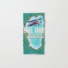 Lake Tahoe map Hand & Bath Towel