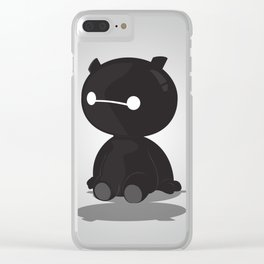 Black Baby Baymax Clear iPhone Case