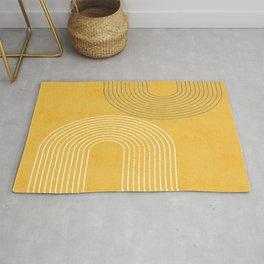 Golden Minimalist Abstract Rug
