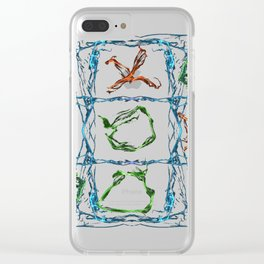 X and O Clear iPhone Case