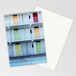 Colorful HIstoric Motel in Wildwood New Jersey Stationery Cards