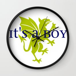 It's a Boy: Golden Dragon Wall Clock
