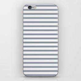 Dark Sargasso Blue Mattress Ticking Wide Striped Pattern - Fall Fashion 2018 iPhone Skin