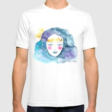 Nebula girl Mens Fitted Tee White MEDIUM