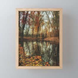 Leaves Are Falling Autumn Is Calling Framed Mini Art Print