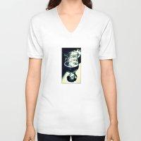 beer V-neck T-shirts featuring Beer by Derek Fleener
