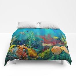 Undersea Art With Coral Comforters