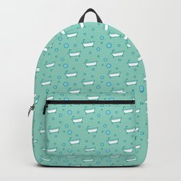 Rub a dub dub, bubbles and a bathtub (aqua) Backpack
