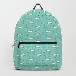 Rub a dub dub, bubbles and a bathtub (aqua) Backpack