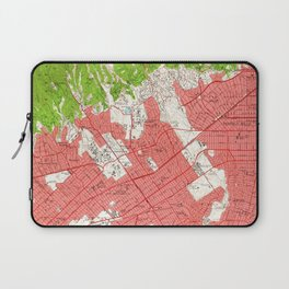 Vintage Map of Beverly Hills California (1950) 2 Laptop Sleeve