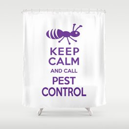 Funny Exterminator Shower Curtain