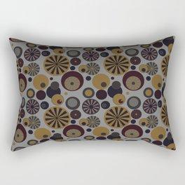Circle Frenzy - Grey Rectangular Pillow