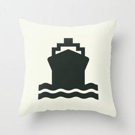 Ship Throw Pillow