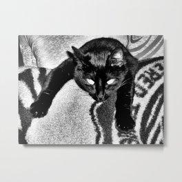 grey box Metal Print