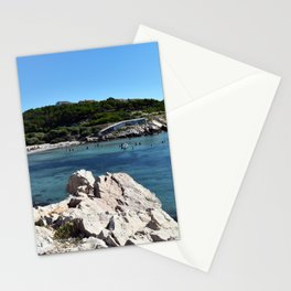 50 shades of blue at the Beach in Marseille France Stationery Cards
