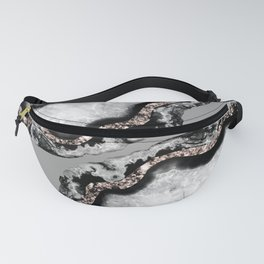Yin Yang Agate Glitter Glam #9 #gem #decor #art #society6 Fanny Pack