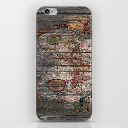 Old Map - New World iPhone Skin