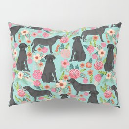 Labrador Retriever black lab floral dog breed gifts pet patterns florals black labs Pillow Sham