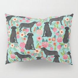 Labrador Retriever black lab floral dog breed gifts pet patterns florals black labs Pillow Sham