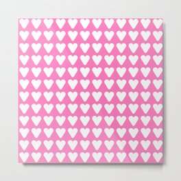 heart and love 17- pink Metal Print