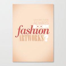 Boobs on fashion. A simple question. Canvas Print