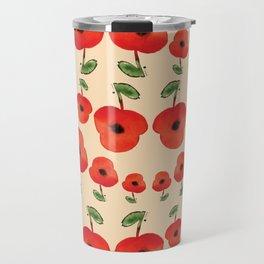 Red poppies dance Travel Mug