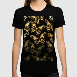 Sunrise over jungle butterfly pattern T-shirt