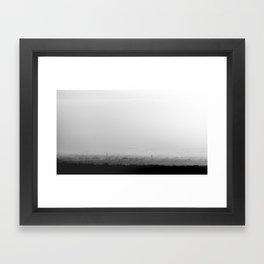 The Old City - Black and White Framed Art Print