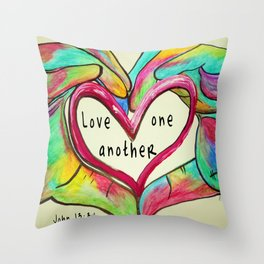 Love One Another John 13:34 Throw Pillow