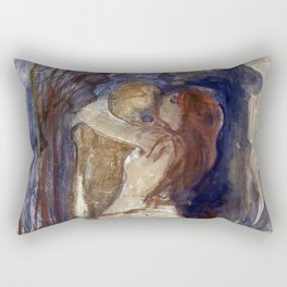 Death and Life by Edvard Munch Rectangular Pillow
